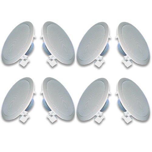 Acoustic Audio R191 In Ceiling / In Wall Speaker 4 Pair Pack 2 Way Home Theater 1600 Watt New R191-4Pr