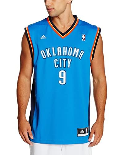 adidas Camiseta sin mangas Oklahoma City Thunder Ibaka Azul / Blanco