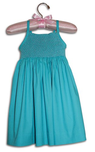 Paolina Hand smocked turquoise blue party sundress - 100% handmade original - Size 0 - Buy Paolina Hand smocked turquoise blue party sundress - 100% handmade original - Size 0 - Purchase Paolina Hand smocked turquoise blue party sundress - 100% handmade original - Size 0 (Farfallina For Kids, Farfallina For Kids Dresses, Farfallina For Kids Girls Dresses, Apparel, Departments, Kids & Baby, Girls, Dresses, Girls Dresses, Baby Doll & Sundresses)