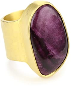 """Heather Benjamin """"Sea"""" Spiny Oyster Purple Ring, Size 6"""