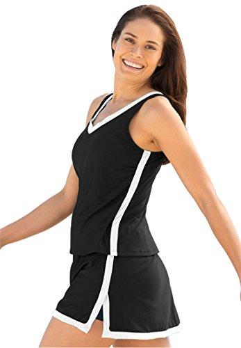 Swim 365 Women's Plus Size Swimsuit, 2-Piece Skirtini