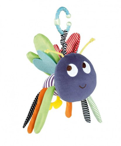 Mamas & Papas Baby Early Development Rattle Toys Multifunctional Plush Dangly Bug Bed Hang Ring Bell front-527992