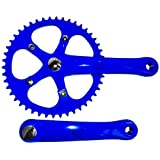 Retrospec Bicycles Fixed-Gear Crank Single-Speed Road Bicycle Crankset, Blue