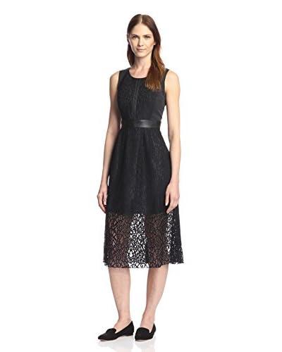 Rue 58 Women's Lace Trim Midi Dress