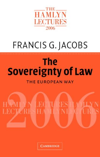 The Sovereignty of Law: The European Way