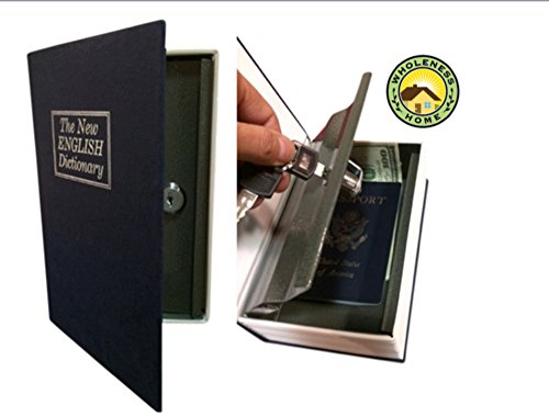 Steel Dictionary Book Diversion Safe with Lock