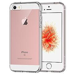 JETech iPhone SE 5 5s ケース 衝撃吸収バンパー アンチスクラッチ クリア (クリア)