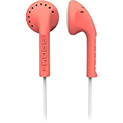 Koss KE10C Scalped Stereo Earbuds, Coral