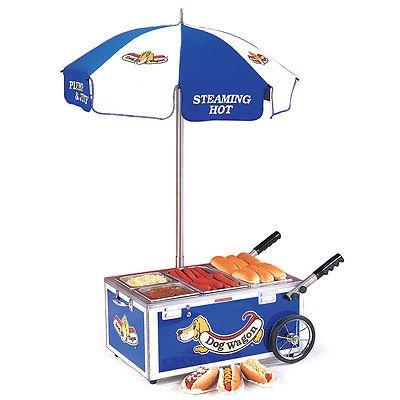 Nemco Countertop Hot Dog Steamer Mini Cart, Blue 6550-DW Pan Configuration #1 (Nemco Hot Dog Steamer compare prices)