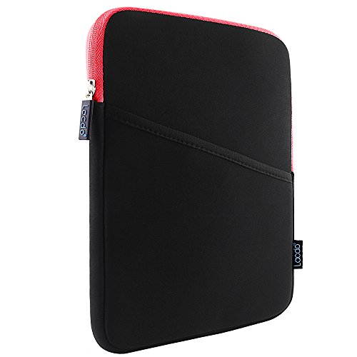 Lacdo 10.1-inch Waterproof Shockproof Neoprene Sleeve Case Cover Protective Pouch Bag for Apple iPad Air / iPad Air 2 With Retina Display / iPad 4 3 2 / Samsung Galaxy Tab 4, 3, Note Tablets / With Side Pocket Red/Black (Ipad 2 Sleeve compare prices)