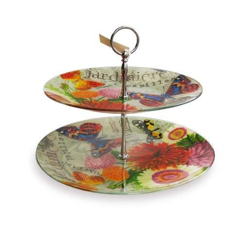 Notions by Jay Bouquet De Fleur 2-Tier Serve Platter