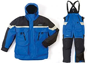 Clam 9108 3XL BLUE BLACK IceArmor Edge Insulated Cold Weather Parka & Bib Suit by Clam