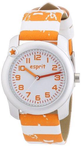 Esprit - ES105284012 - Montre Mixte - Quartz Analogique - Bracelet Résine Orange