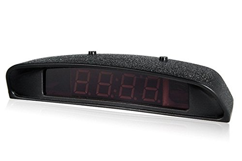 Ca-0396 Digital Backlight Led Display Time Temperature Electronic Car Clock (Black)