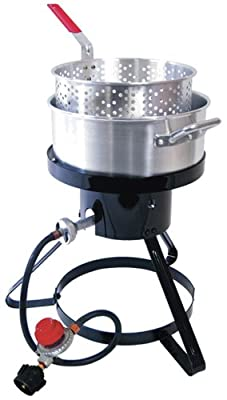Masterbuilt MB10 Outdoor LP Gas 10-quart Fryer and Seafood Kettle