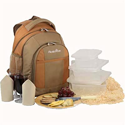 Deluxe Picnic Backpack Set For 2 Free Shipping by Picnics4Fun