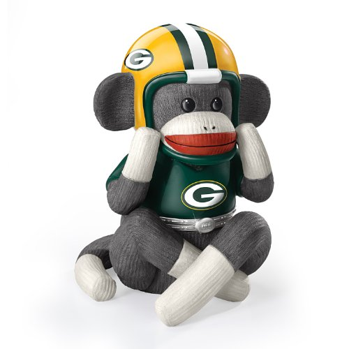 Music Box: Green Bay Packers Sock Monkey Music Box by The Bradford Exchange at Amazon.com