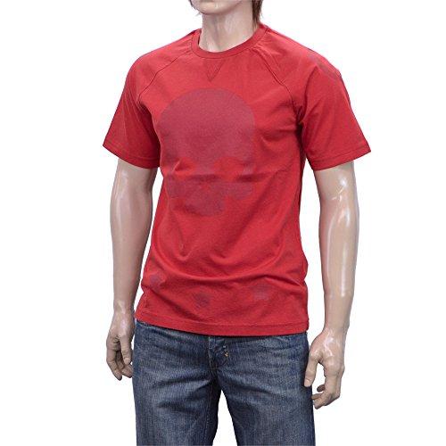 (ハイドロゲン)HYDROGEN Tシャツ 半袖 クルーネック 160015 002 レッド M [並行輸入品]