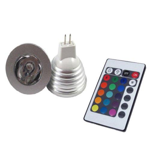 Lemonbest® Energy Saving 4W Rgb Led Light Lamp Mr16 16 Colors Changing Dc12V + Remote Control, Pack 5