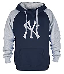 Clor Mens New York Yankees Super Athletic Pullover Hoodie - Royal Blue L