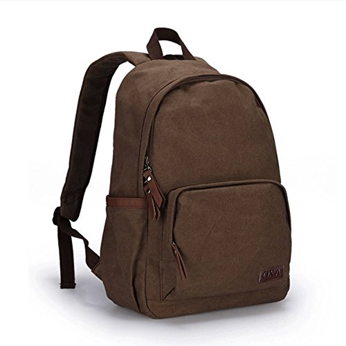 5d39132edf OXA Vintage Durable Lightweight Canvas Laptop Backpack Travel Backpack  Daypack Rucksack College Bookbags Outdoor Sports Camping