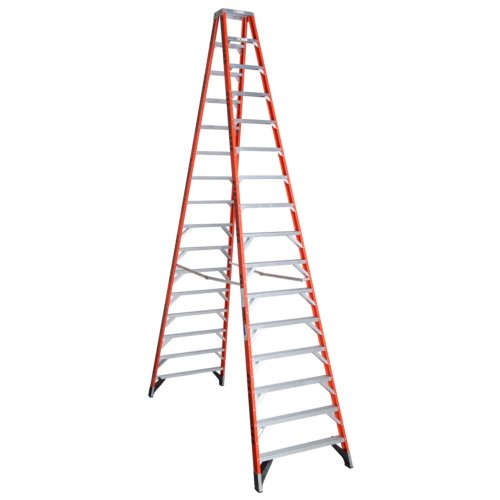 Werner T7416 300-Pound Duty Rating Fiberglass Multi-Use Twin Ladder, 16-Foot