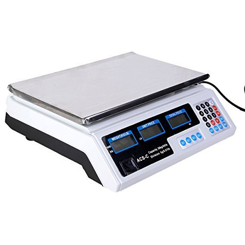 Super buy 66 LB Digital Scale Price Computing Deli Food Produce Electronic Counting Weight by Super buy
