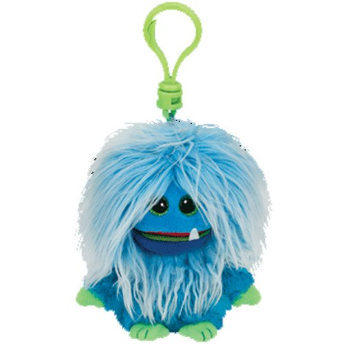 Ty Frizzys - Fang the Blue Monster Clip - 4 Inch