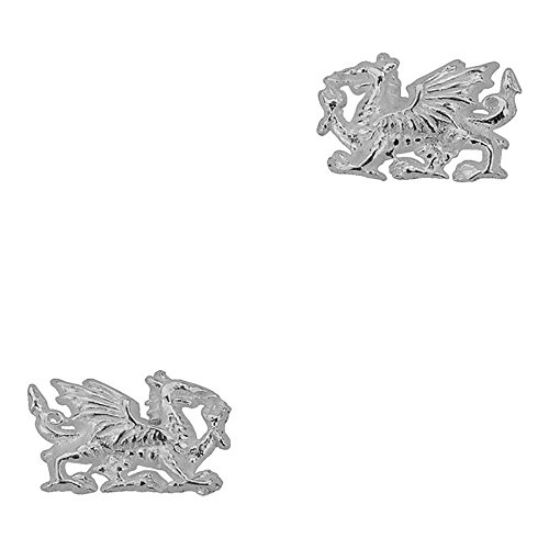Sterling Silver Welsh Dragon Stud Earrings