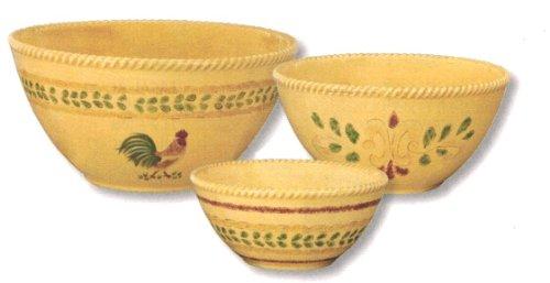 Acquisition Park Designs Free Range Collection Ceramic Mixing Bowls, Set Of 3 saleoff