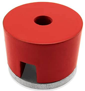 "Cast Alnico 5 Button Magnet With Keeper, 1"" Diameter, 5/8"" Thick, 7/32"" Center Hole (Pack of 1)"