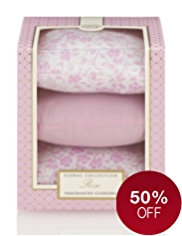 Floral Collection Rose Fragranced Cushions Gift Set