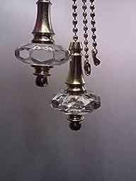 Crystal Tear drop Fan-light Pull Chain
