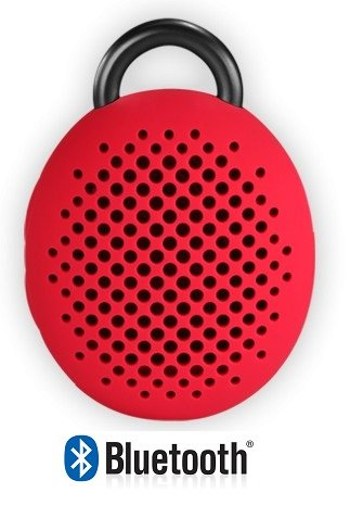 Avoitronics Divoom Bluetune-Bean Ultra Portable Bluetooth Wireless Speaker With Hands-Free, Works With All Bluetooth Capable Cell Phones/Tablets,Pc/Mac And Other Devices (Red)