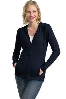 Port Authority Ladies Modern Stretch Cotton Full-Zip Jacket - True Navy L519 2XL