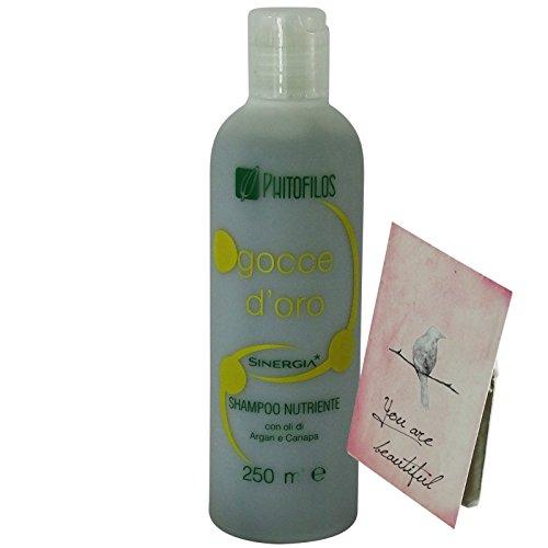 Phitofilos Sinergia Gocce d'Oro Shampoo Nutriente Capelli Secchi + Trattamento Yumi Incluso