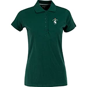 Antigua Ladies Spark Polo W  Rose Bowl Michigan State Spartans Logo by Antigua