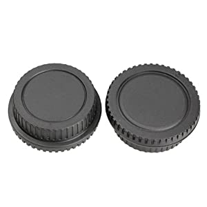 Vktech 10 Set of Rear Lens Cover with Camera Body Cap for Canon DSLR SLR EOS EF