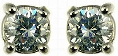 Ornami Glamour Ladies' Diamond Stud Earrings, 9ct Yellow Gold, 6 Claw Set, I2 Diamond Clarity, 0.33 Carat Diamond Weight, Model 9-ER329DI4/33