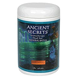 Ancient Secrets Mineral Baths, Aromatherapy Dead Sea, Patchouli, 32 Oz (2 Lbs) 908 G (Pack Of 2)