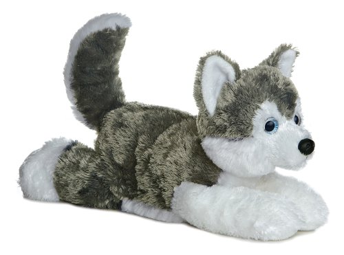 Shadow (Siberian Husky) 12'' Plush Dog by Aurora - Flopsie Series