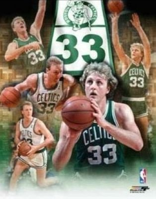 All About Autographs AAA-10141 Larry Bird Boston Celtics NBA 8x10 Photograph Legends Collage