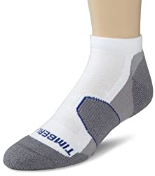 Timberland Mens 2 Pack Trail Running Low Rider Socks, White, One Size