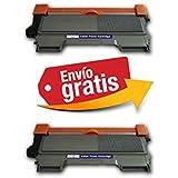 2 x Tóner Compatible con Brother Tn-2010 NON OEM ALTA CAPACIDAD (2600 copias) Tn2010, HL2130 , HL 2310 , HL2310 , DCP7055 , DCP 7055, EMPRESA ESPAÑOL, ENVÍOS DESDE MADRID