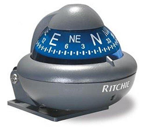 Bussola sferica Ritchie Sport X10 12 V Grigio Rosa azzurra Acciaio inox Marina