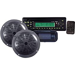 See Pyle Marine Single-Din In-Dash Cd Receiver With Two 5.25 Speakers & Splashproof Radio Cover (Electronic Tuner)