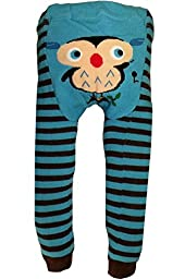Dotty Fish Baby Boys\' Wooly leggings 12-24 months Blue Ollie Owl
