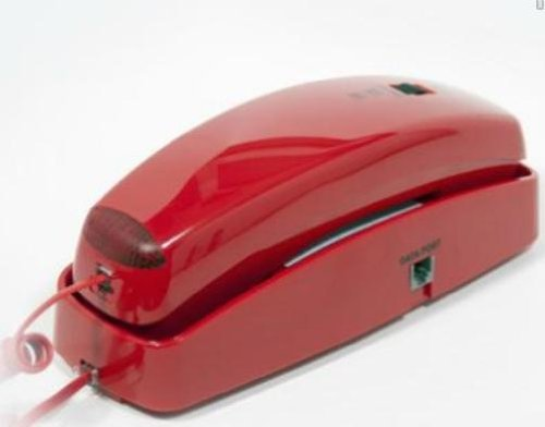 Red Slim Line Telephone (Telephones Corded Wall Mount compare prices)