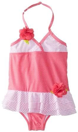 ABSORBA Baby Girls' Swim Suit, Pink Dot, 12 Months