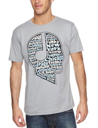 DMC House Head Men's T-Shirt Grey/Blue/White/Black Small
